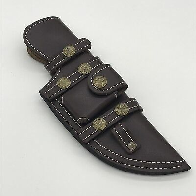 "YA11/ Custom  Handmade Leather Sheath For 9""—10"" Tracker Hunting Knife."