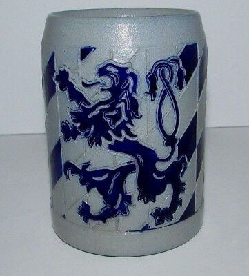 German Stoneware Stein Lowenbrau Lion .5L #90