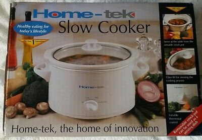 Home-Tek Slow Cooker - 3 Litre - New In Box
