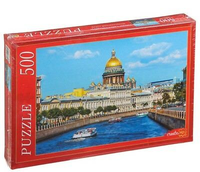 Isaac's Cathedral Russia Saint Petersburg Famous Buildings Orthodox Puzzle 500