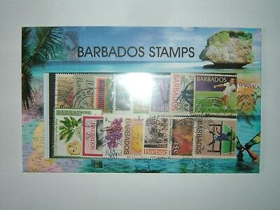 BARBADOS STAMPS COLLECTION x 15 VFU