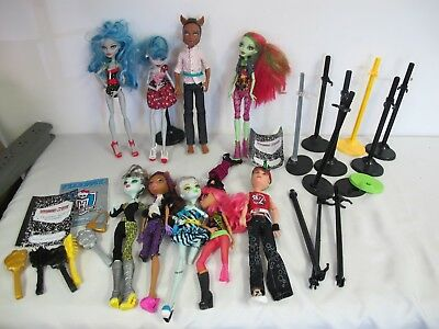 Monster High Dolls (9)  Lot Frankie Stein Clawd Wolf Howleen Wolf More