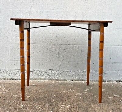 Antique Wooden Folding  Sewing Table / Card Table