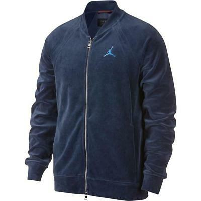 3451baeedf313b NEW MEN S AIR Jordan Velour Full-Zip Jacket (AH2357-410) Midnight ...