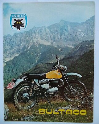 Vintage '69  Bultaco Lobito Factory Original Sales Brochure Moto-Cross