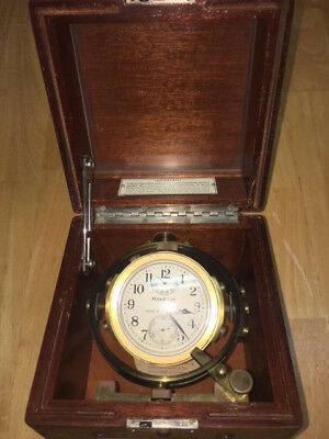 Ww Ii Hamilton U.s. Navy Ship Mounted Chronometer Watch, Model 22