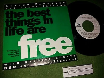 """7"""" : LUTHER VANDROSS & JANET JACKSON : The Best Things In Life Are Free (D '92)"""