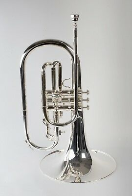 Tempest Agility Winds F Marching Mellophone Silver Plated Big Sound Solid Braces