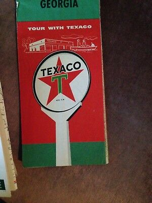 1958 Texaco Road Map of Georgia!