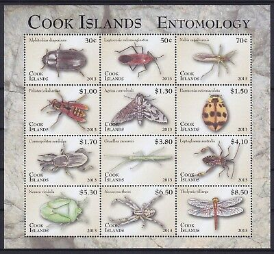 Cook Islands Mi-Nr. 1862 - 1873 KB / Sheet **, Insekten / Insects I (63 ME)