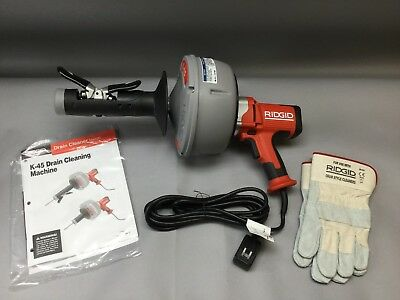 Ridgid Hand-Held Drain Cleaner With Autofeed - (K-45AF)