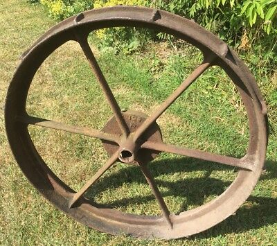 Vintage cast iron wheel cart/shepherds hut