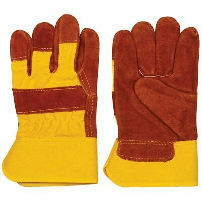 HIGH VISIBILITY Orange LG LEATHER Grade GLOVE (Pack of 8)