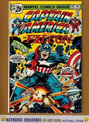 Captain America #197 (8.5) VF+ By Jack Kirby 1976 Bronze Age Key Issue