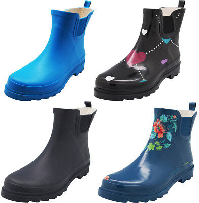 New Norty Women Low Ankle High Rain Boots Rubber Snow Rainboot Shoe Bootie
