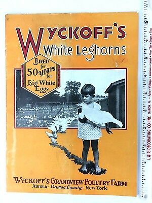Awesome Early 1930's Wyckoff Grandview Poultry Farm 50th Anniversary Catalog