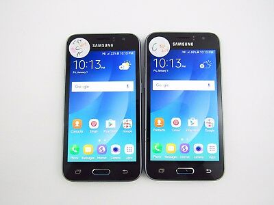Lot of 2 Samsung Galaxy Amp 2 J120AZ Cricket Check IMEI Grade C 3-1236