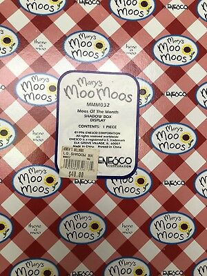 Mary's Moo Moos - Moos of The Month Shadow Box Display