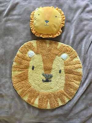 Amazing Nursery Lion Rug And Cushion