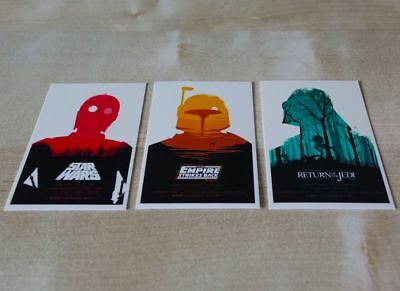Olly Moss Star Wars Mini Art Cards - FULL SET (Thought Bubble) - Prints Poster