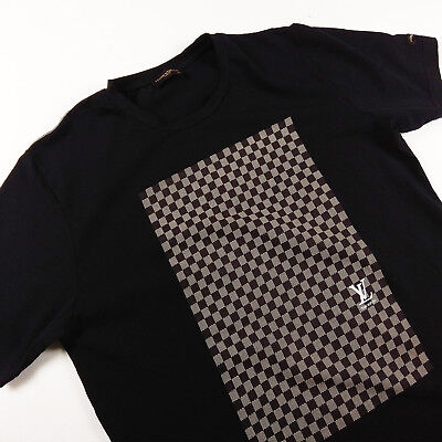 Louis Vuitton Men S T Shirt L Stretchy Black With