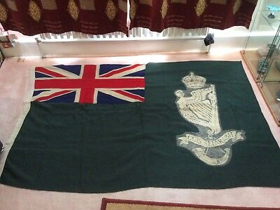 Royal Ulster Rifles  regimental flag , early -mid 20th century. Unique and rare.