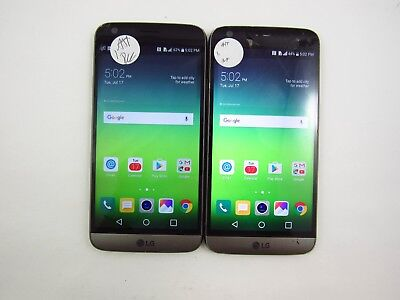 Lot of 2 Cracked LG G6 H820 ATT Check IMEI 5CR 588