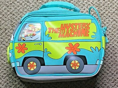 Scooby Doo Mystery Machine Thermos Soft Side Lunchbox Euc