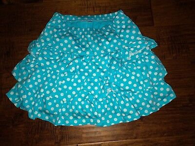 Blue And White Polka Dot Hanna Andersson Girls Skirt Size 140 Or Girls 9-10