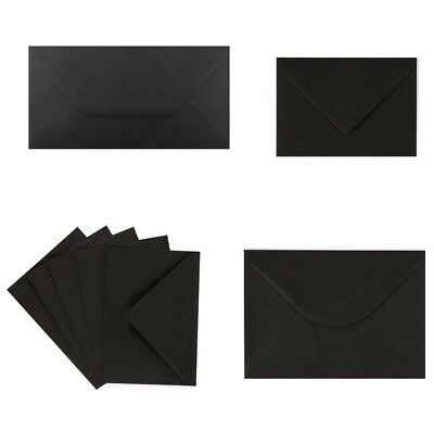 Black Envelopes Greeting Card Party Invitations Crafts C5 C6 C7 DL Square