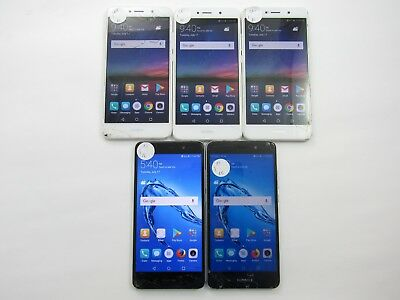 Cracked Lot of 5 Huawei Ascend XT2 H1711z Cricket(3)/AT&T(2) CheckIMEI 4CR-1013