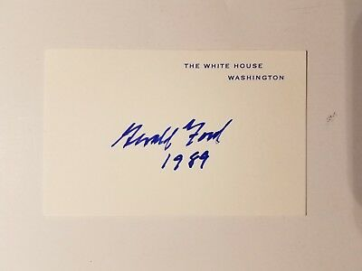 President Gerald Ford signed White House card 1989