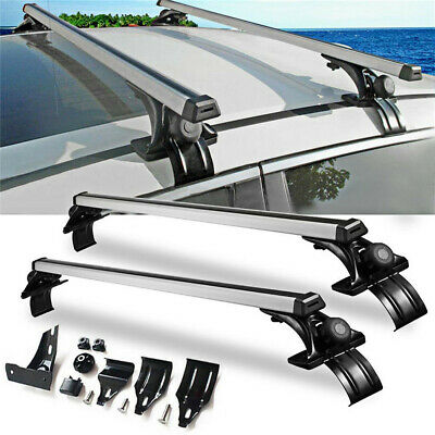 """Universal 48"""" Car Top Roof Cross Bar Luggage Cargo Carrier Rack w/ 3 Kinds Clamp"""