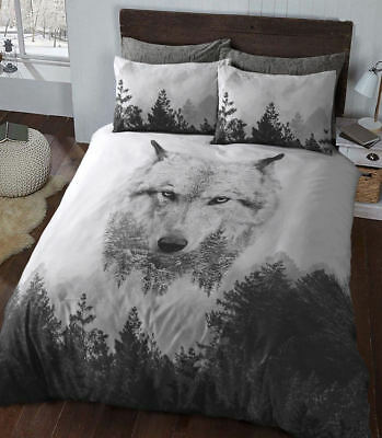 Snow Wolf 3D Luxurious Duvet Covers Quilt Covers Reversible Bedding by PD (472)