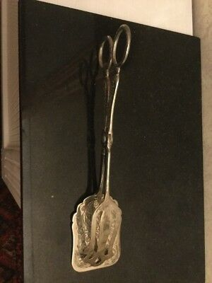 Silver Plated Serving Tongs