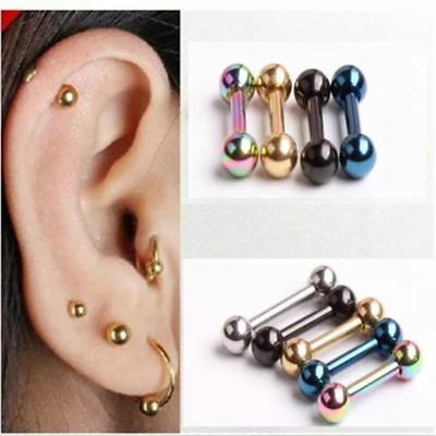 316L Forward Helix Ball Cartilage Piercing Surgical Steel Stud Tragus Earring