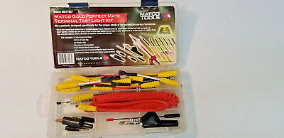 MATCO TOOLS MD77007 Gold Perfect Mate Terminal Test Light Kit, Mint-Complete