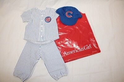 BRAND NEW American Girl Doll Chicago CUBS Baseball 3pc Uniform w/Tags in Bag