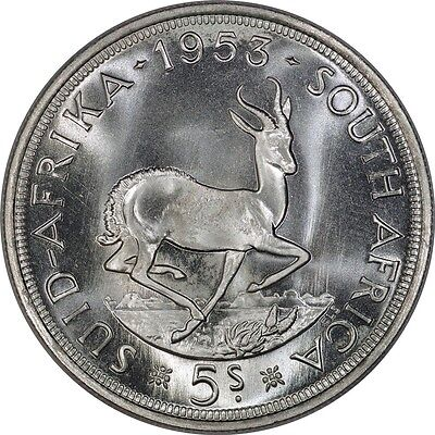 South Africa Silver 5 Shillings 1953 Prooflike *~*Gem Quality*~*