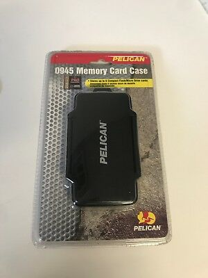 Pelican 0945 Memory Card Case for 6 CF Memory Cards, All Black, 2 GB, Brand New