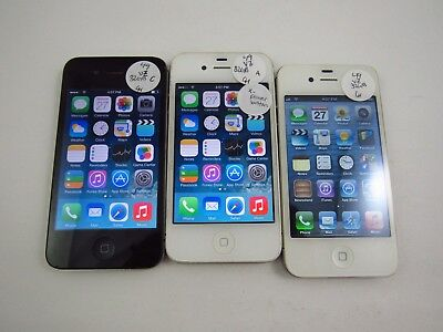 Lot of 3 Apple iPhone 4 A1349 Verizon Check IMEI Good Condition 3-056