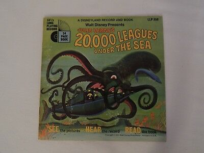 20,000 Leagues Under The Sea Disneyland Record And Book VG+/Excellent LLP-358