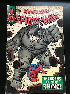Amazing Spider-Man 41 Unrestored First Rhino, Not Graded Cgc,cbcs,pgx