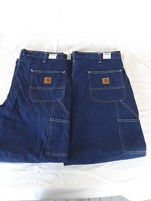 Lot of 2 New Carhartt Dungarees #382-83 Size 40X30