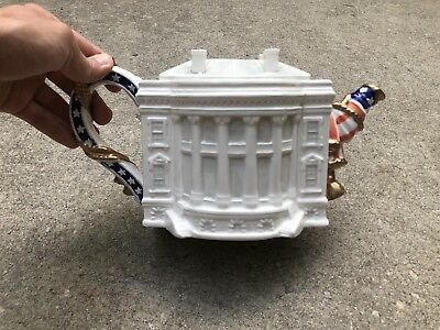1993 Fitz & Floyd Famous Landmarks Collector's Series Teapot - The White House