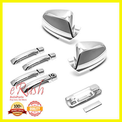 For 2007-2015 Toyota Tundra 4Dr Chrome Door Handle Side Mirror Tailgate Covers