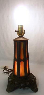 Vintage Miller Slag Glass Art Nouveau Lamp Base