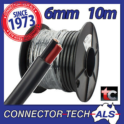 10 Metres 6mm Twin Core Wire Tycab Cable 10M 4WD Caravan 12V Battery  #TC6MMx10