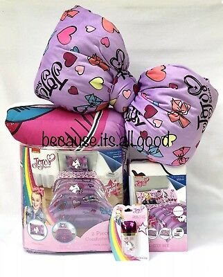 Jojo Siwa Full Purple Unicorn Bedding Comforter Sham 4 Pc Sheet Set