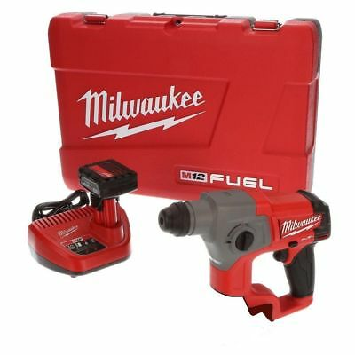 Milwaukee 2416-21XC 12-Volt 5/8-Inch 4.0Ah M12 FUEL SDS-Plus Rotary Hammer Kit